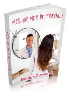 Book cover of a woman staring in a mirror and a man's image is staring back at her