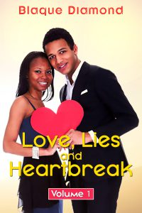 Book cover of a man and woman standing smiling with the both of them holding onto a heart