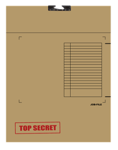 picture of a stack of files with the word top-secret stamped across the top