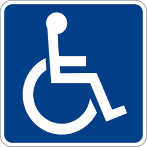 the sign representing the disabled